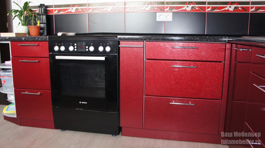 фото мдф пленка кухня рубин металлик цветом его счастью